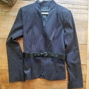 NWT Black pinstriped blazer with optional belt